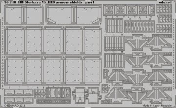 IDF Merkava Mk.IIID armour shields [Meng Models] · EDU 36246 ·  Eduard · 1:35