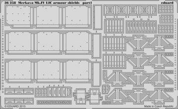 Merkava Mk.IV LIC arm. shields [Academy] · EDU 36258 ·  Eduard · 1:35