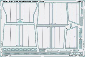 King Tiger last production - Fenders [Academy] · EDU 36261 ·  Eduard · 1:35