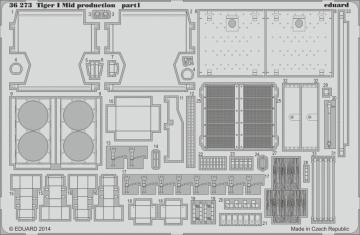 Tiger I Mid production [Dragon] · EDU 36273 ·  Eduard · 1:35
