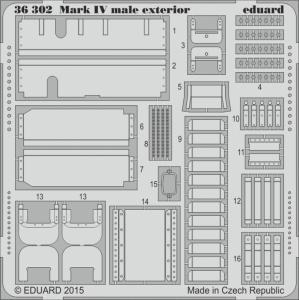 Mark IV male - Exterior [Tamiya] · EDU 36302 ·  Eduard · 1:35