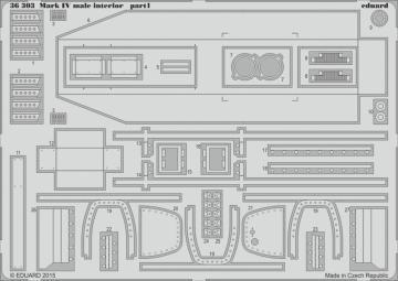 Mark IV male - Interior [Tamiya] · EDU 36303 ·  Eduard · 1:35
