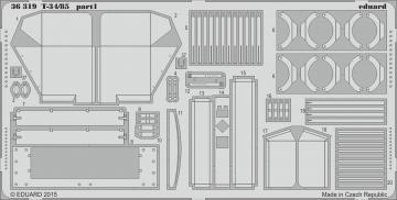 T-34/85 [Academy] · EDU 36319 ·  Eduard · 1:35
