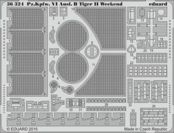 Pz.Kpfw.VI Ausf.B Tiger II - Weekend Edition Upgrade  [Eduard] · EDU 36324 ·  Eduard · 1:35