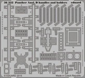 Panther Ausf.D handels a.holders [Tamiya] · EDU 36332 ·  Eduard · 1:35