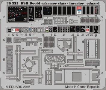D9R Doobi w/armor slats - Interior [Meng Model] · EDU 36335 ·  Eduard · 1:35