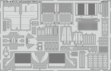 US M40 self-propelled 155m gun [Tamiya] · EDU 36354 ·  Eduard · 1:35