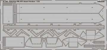 Valentine Mk.II/IV - Desert - Fenders [Tamiya] · EDU 36360 ·  Eduard · 1:35