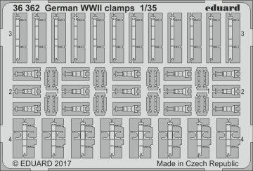 German WW2 clamps · EDU 36362 ·  Eduard · 1:35