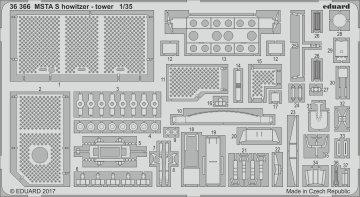 MSTA-S - Russian 152mm Self-Propelled Howitzer - Tower [Zvezda] · EDU 36366 ·  Eduard · 1:35