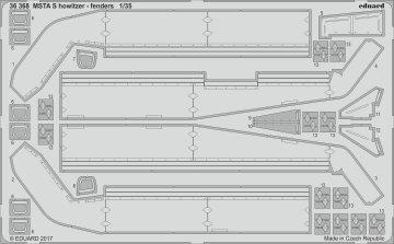 MSTA-S - Russian 152mm Self-Propelled Howitzer - Fenders [Zvezda] · EDU 36368 ·  Eduard · 1:35