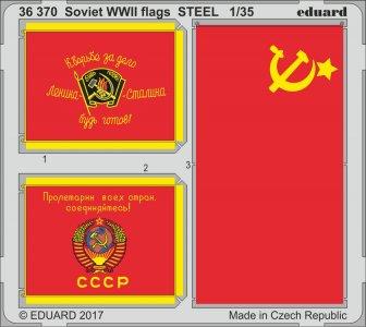 Soviet WWII flags STEEL · EDU 36370 ·  Eduard · 1:35