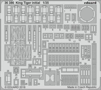 King Tiger initial production [Takom] · EDU 36386 ·  Eduard · 1:35