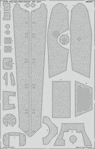 King Tiger initial zimmerit [Takom] · EDU 36387 ·  Eduard · 1:35