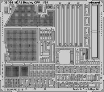 M3A3 Bradley CFV [Kinetic] · EDU 36394 ·  Eduard · 1:35