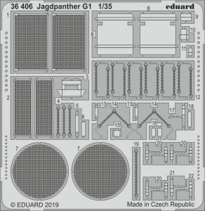 Jagdpanther G1 [Meng Model] · EDU 36406 ·  Eduard · 1:35