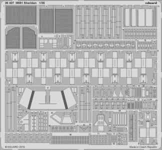 M551 Sheridan [Tamiya] · EDU 36407 ·  Eduard · 1:35