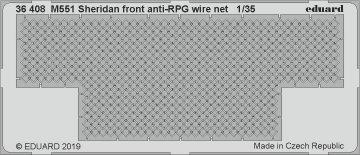 M551 Sheridan - Front anti-RPG wire net [Tamiya] · EDU 36408 ·  Eduard · 1:35