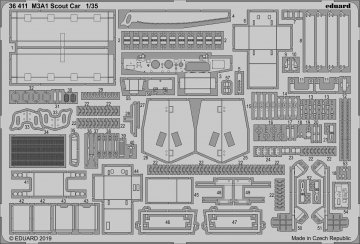 M3A1 Scout Car [Tamiya] · EDU 36411 ·  Eduard · 1:35