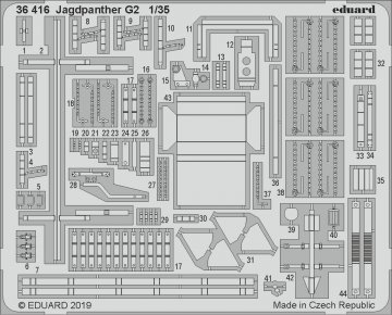 Jagdpanther G2 [Meng Models] · EDU 36416 ·  Eduard · 1:35
