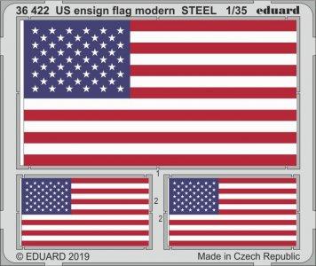 US ensign flag modern STEEL · EDU 36422 ·  Eduard · 1:35