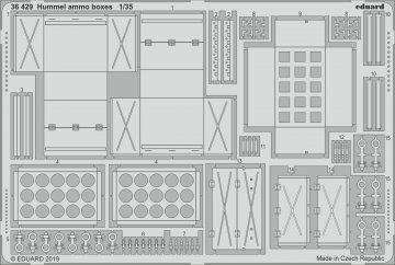 Hummel - Ammo boxes [Tamiya] · EDU 36429 ·  Eduard · 1:35