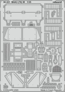 M4A3 (76) W [Meng Model] · EDU 36431 ·  Eduard · 1:35