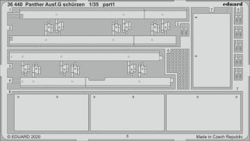 Panther Ausf. G - Schürzen [Ryefield Model] · EDU 36440 ·  Eduard · 1:35