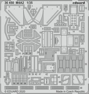 M4A2 [Zvezda] · EDU 36450 ·  Eduard · 1:35