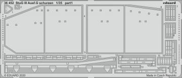 StuG III Ausf.G - Schürzen [Takom] · EDU 36452 ·  Eduard · 1:35