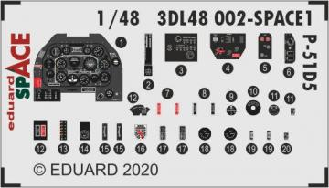 P-51D-5 - Space [Zvezda] · EDU 3DL48002 ·  Eduard · 1:48