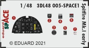 Spitfire Mk.I early - Space [Eduard] · EDU 3DL48005 ·  Eduard · 1:48