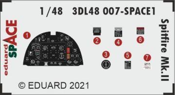 Spitfire Mk.II - Space [Eduard] · EDU 3DL48007 ·  Eduard · 1:48