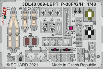 P-38F - Space [Tamiya] · EDU 3DL48009 ·  Eduard · 1:48