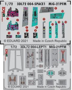 MiG-21PFM - Space [Eduard] · EDU 3DL72004 ·  Eduard · 1:72