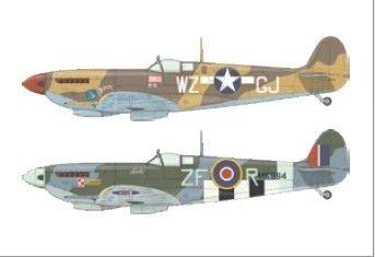Spitfire Mk.IXc late - Super44 · EDU 4433 ·  Eduard · 1:144