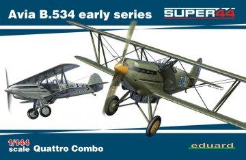 Avia B.534 early series - Quattro Combo  - Super44 · EDU 4451 ·  Eduard · 1:144