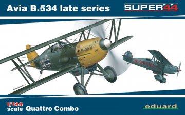 Avia B.534 late series - Quattro Combo  - Super44 · EDU 4452 ·  Eduard · 1:144