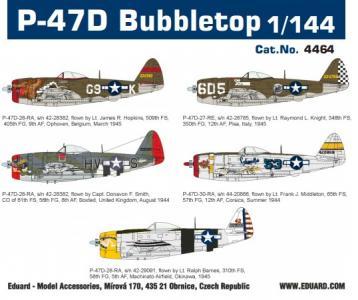 P-47D Bubbletop - Super44 · EDU 4464 ·  Eduard · 1:144
