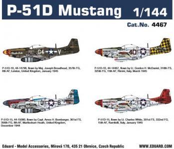 P-51D Mustang - Super44 · EDU 4467 ·  Eduard · 1:144