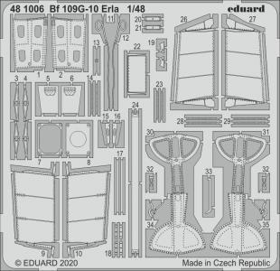 Messerschmitt Bf 109 G-10 Erla [Eduard] · EDU 481006 ·  Eduard · 1:48