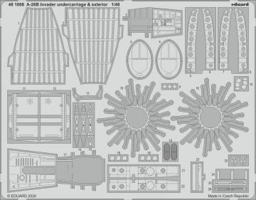 A-26B Invader - Undercarriage & exterior [ICM] · EDU 481008 ·  Eduard · 1:48