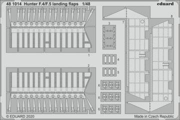 Hunter F.4/F.5 - Landing flaps [Airfix] · EDU 481014 ·  Eduard · 1:48