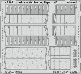 Hurricane Mk.I - Landing flaps [Airfix] · EDU 481021 ·  Eduard · 1:48