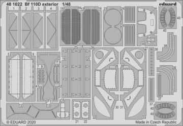 Messerschmitt Bf 110D - Exterior [Dragon] · EDU 481022 ·  Eduard · 1:48
