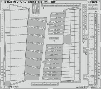 Dornier Do 217J-1/2 - Landing flaps [ICM] · EDU 481025 ·  Eduard · 1:48