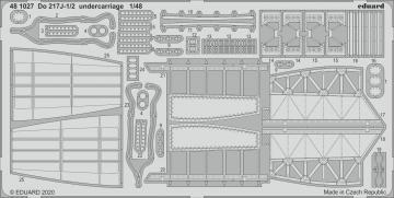Dornier Do 217J-1/2 - Undercarriage [ICM] · EDU 481027 ·  Eduard · 1:48