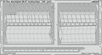 Beaufighter Mk.IF - Landing flaps [Revell] · EDU 481034 ·  Eduard · 1:48