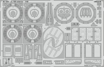 Junkers Ju 188 - Exterior [Revell] · EDU 481041 ·  Eduard · 1:48