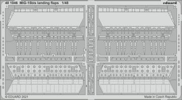 MiG-15bis - Landing flaps [Bronco Models] · EDU 481046 ·  Eduard · 1:48